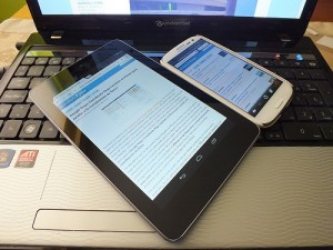 Smartphone, tablet and laptop by Miniyo73